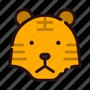 animal, carnivore, cartoon, fauna, tiger, wild, zoo icon