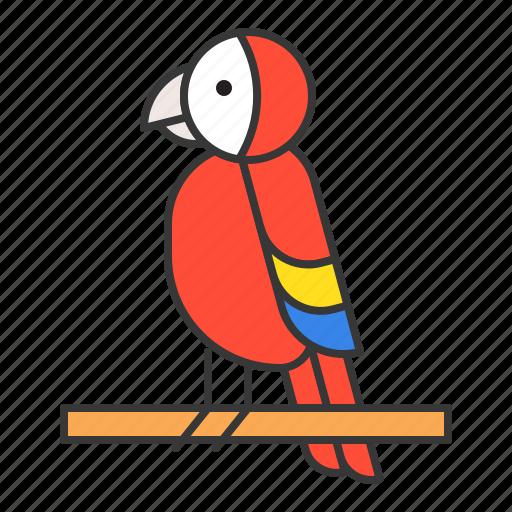 animal, bird, parrot, wildlife, zoo icon