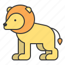 animal, lion, mammal, wildlife, zoo icon