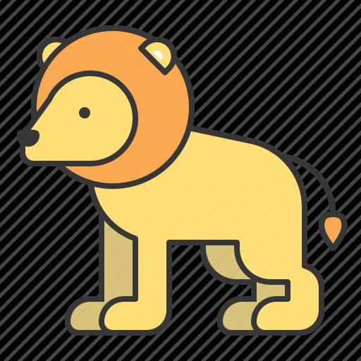animal, lion, mammal, wildlife, zoo icon