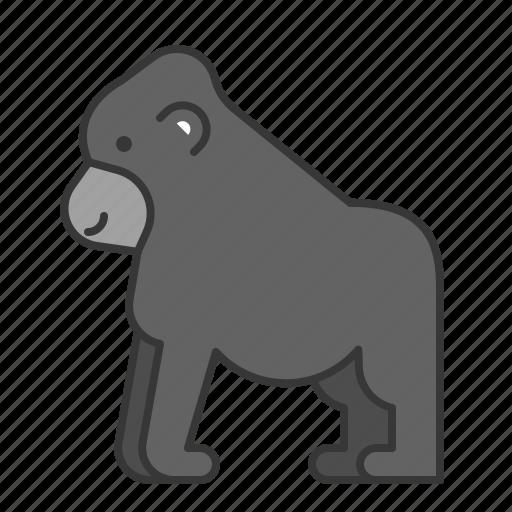 animal, gorilla, mammal, wildlife, zoo icon