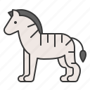 animal, mammal, wildlife, zebra, zoo icon