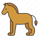 animal, horse, mammal, wildlife, zoo icon