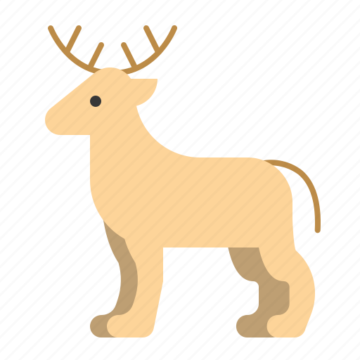 animal, deer, mammal, wildlife, zoo icon