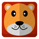 animal, lion, wild, zoo icon