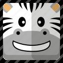 animal, wild, zebra, zoo icon