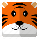 animal, tiger, wild, zoo icon
