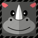 animal, mammal, rhino, zoo