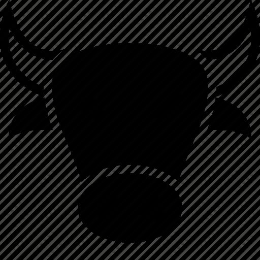 bull, cartoon, cow, face, head icon