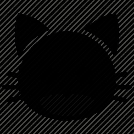 cartoon, cat, face, head, pet icon
