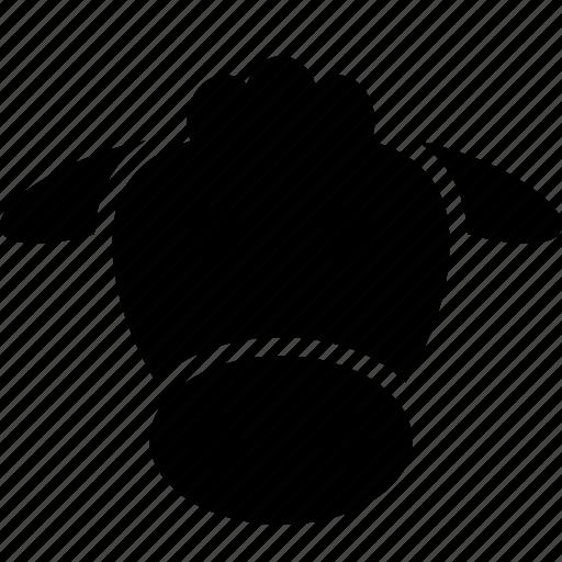 cartoon, cow, face, head icon
