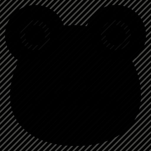 cartoon, face, frog, head icon