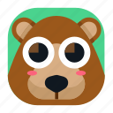 animal, app, bear, cute, pet, wildlife, zoo icon