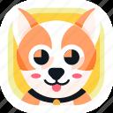 animal, app, corgi, dog, pet, wildlife, zoo icon