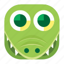 aligator, animal, app, crocodile, pet, wildlife, zoo icon