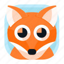 animal, app, fox, pet, wildlife, zoo icon