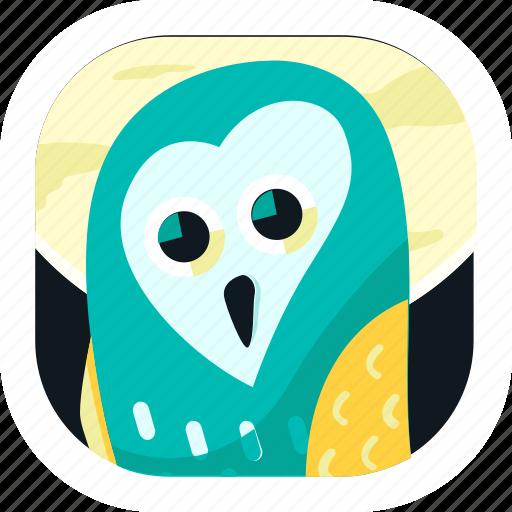 animal, app, bird, noctunal, owl, pet, wildlife icon