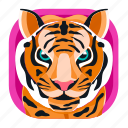 animal, app, carnivore, pet, tiger, wildlife, zoo icon