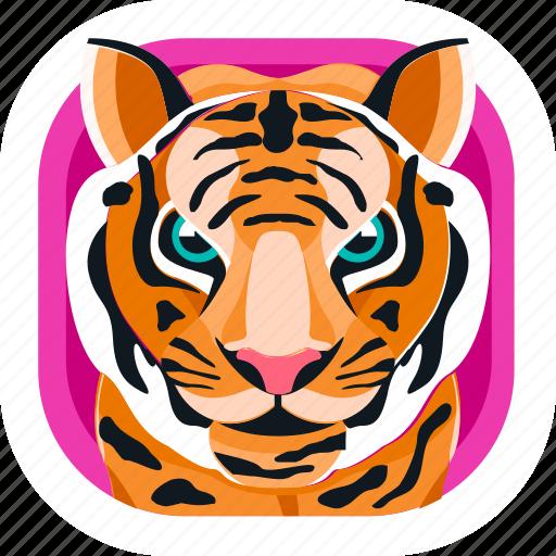 animal, app, carnivore, pet, tiger, wildlife, zoo icon