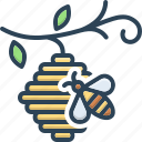 apiary, bee, bee in hive, beekeeping, hive, honey, insect icon