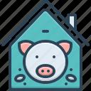 abundance, boar, butcher, hoofed, pig, pig in pigsty, pigsty icon