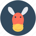 animal, ass, donkey, mule, okapi icon