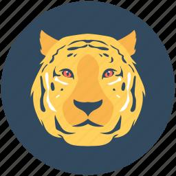 animal, leopard, lion, panthera leo, tiger icon