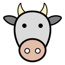 animal, cow, cows, icon, milk, vaca icon