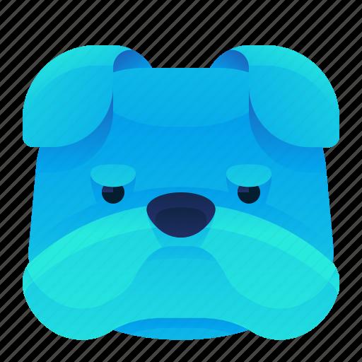 animal, canine, dog, grumpy, pet icon