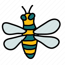 animals, bee, bug, hive, honey, sting icon