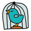 animals, bird, cage, fly, pet, sing icon