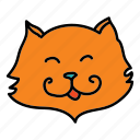 animals, cat, cuddle, friendly, pet, smile icon