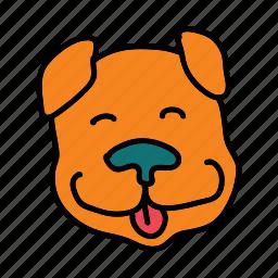 animals, cuddle, dog, friendly, pet, smile, walk icon