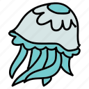 animals, aquarium, jellyfish, ocean, sea, sting icon