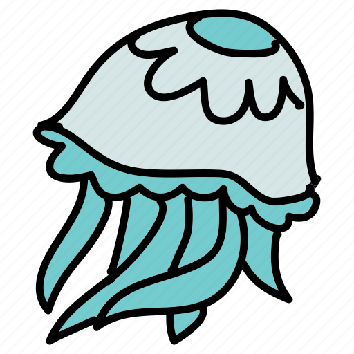 animals, aquarium, jellyfish, ocean, sea, sting icon