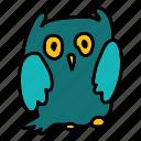 animals, bird, night, owl icon