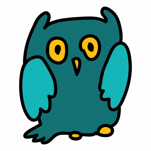 animals, bird, night, owl icon