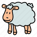 animals, cute, farm, field, herd, sheep icon