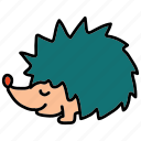 animals, forest, hedgehog, pet, spikes icon