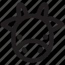 animal, animals, cow, mammal, ox, pet, zoo icon