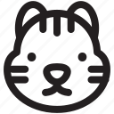 animal, animals, avatar, cute, profile, tiger, zoo icon