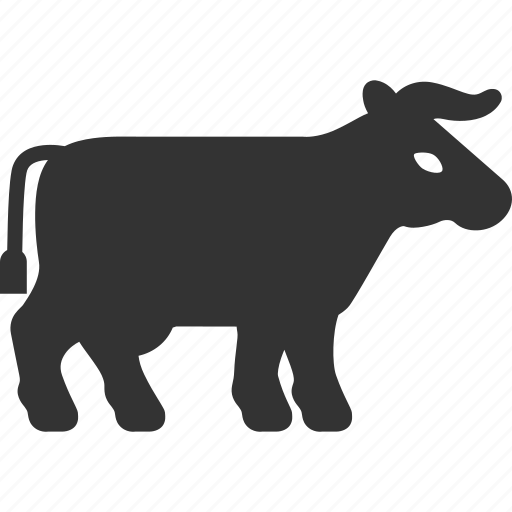 agriculture, animal, bull, cattle, cow, farm, horn icon