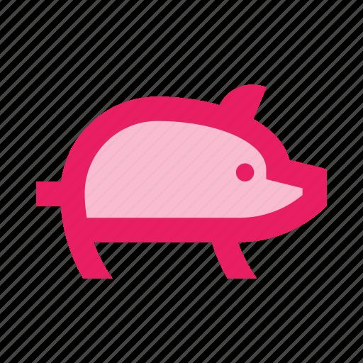 animal, bacon, farm, food, pig, piggy, pork icon