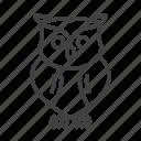 bird, eagle owl, owl, wise icon