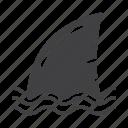 fin, fish, marine, shark icon