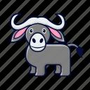 animal, buffalo, bull, wild icon