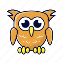 animal, cute owl, owl, pet icon