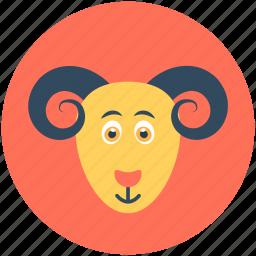 animal, chamois, mouflon, mouflon sheep, mountain goat icon