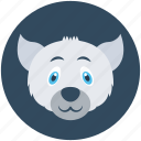 animal, fox, wild animal, wolf, wolf head icon