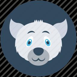 animal, fox, wild animal, wolf, wolf head icon